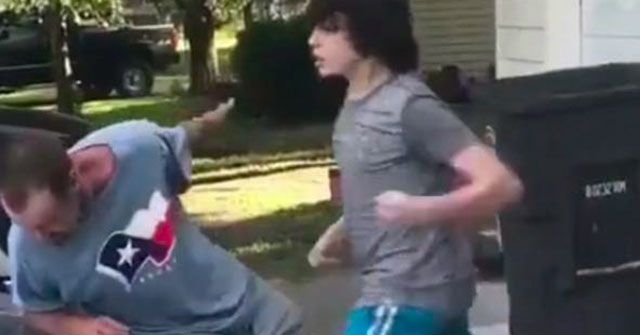 Son Knocks Out His Step-Dad For Calling His Friend The N-Word - Caveman Circus