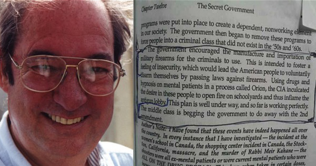 Bill Cooper's 1991 Book Predicts Shootings by Drugged Individuals in Order to 'Disarm Public' | Humans Are Free