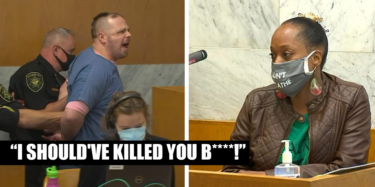 "White Supremacist Sentenced to Life Violently Threatens Black Woman in Court; ""I Should Have Killed You B-h!"" - Black Main Street"
