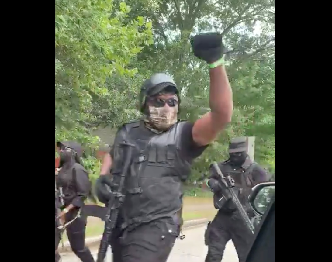 """Heavily Armed """"Black Militia"""" Swarms Stone Mountain on Independence Day 